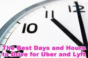The Best Days and Hours to Drive for Uber and Lyft