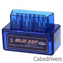 Super Mini ELM327 Bluetooth OBD2 V1.5 Car Diagnostic Interface Tool - Blue