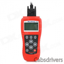 "MaxiDiag US703 2.7"" LCD Code Scanner Reader Diagnostic Tool for GM / Ford / Chrysler - Red"