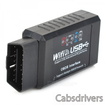 ELM327 Wi-Fi / USB Interface OBD II Car Diagnostic Scanner Tool - Black (12V)