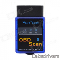 LSON ELM327 B Mini Bluetooth OBD2 V1.5 Auto Car Diagnostic Scan Tool - Blue + Black