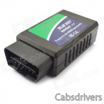Wireless Bluetooth OBD2 Car Diagnostics Tool for Notebook / PC / Smartphones - Green + Blue (DC 12V)