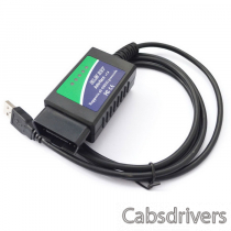 USB ELM327 OBD-II Car Diagnostics Tool for Notebook / PC - Green + Blue (DC 12V)