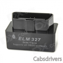 Super Mini ELM327 Bluetooth V1.5 OBD2 Car Diagnostic Interface Tool - Black
