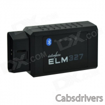 D3 Car Vehicle ELM327 Bluetooth OBD2 V1.5 Code Reader Scanner - Black