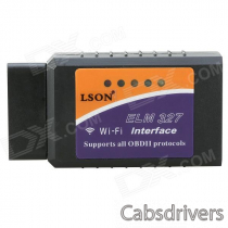 LSON EML327 OBD Wi-Fi Auto Car Diagnostic Tool for Iphone - Black