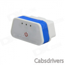 iCar ELM327WiFi OBD 2 Car Diagnosis - White + Blue