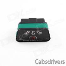 Super Mini iCar2 Vehicle Bluetooth OBD-II Code Diagnostic Tool / Clearer - Black + Green