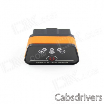 Super Mini iCar2 Vehicle Bluetooth OBD-II Code Diagnostic Tool / Clearer - Black + Orange