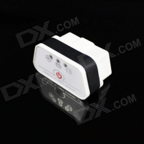 Super Mini iCar2 Vehicle Wi-Fi OBD-II Code Diagnostic Tool / Clearer - White + Black