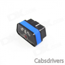 Super Mini iCar2 Vehicle Bluetooth OBD-II Code Diagnostic Tool / Clearer - Black + Blue