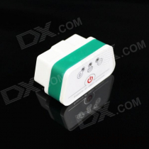 Super Mini iCar2 Bluetooth Vehicle OBD-II Code Diagnostic Tool - White + Green