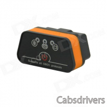 iCar OBDII ELM327 Bluetooth Car Diagnostic Tool - Black + Orange