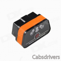 Vagte l Super Mini iCar2 Vehicle Wi-Fi OBD-II Code Diagnostic Tool / Clearer - White + Orange