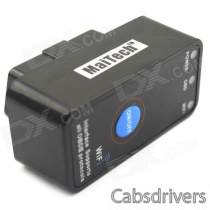 MaiTech ELM327 Interface Wireless OBD II Wi-Fi Car Diagnostic Scanner Tool - Black (12V)