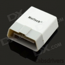 MaiTech ELM327 Bluetooth OBD2 V1.5 Car Diagnostic Interface Tool with Switch - White + Light Grey