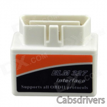 Mini ELM327 V1.5 OBD2 OBDII EOBD Bluetooth Auto Scanner Interface Tool - White