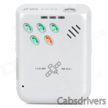 Portable 850 / 900 / 1800 / 1900MHz GPRS / SMS Vehicle / Car Tracker w/ SOS - White