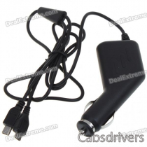 Universal Mini + Micro USB Car Charger for HTC Cell Phones (12~24V DC)