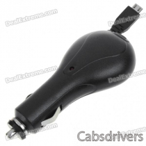 Car Charger with Retractable Cable for Samsung i9000 (DC 12~24V/75CM-Cable)