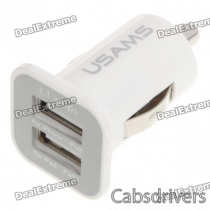 Mini Dual-USB Car Cigarette Powered Charger for Ipad/Ipad 2/Ipod/Iphone