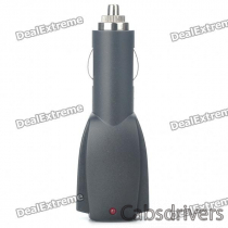 Dual USB Port Car Cigarette Powered Adapter/Charger - Black (DC 12V~24V)