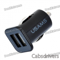 Car Cigarette Powered Dual USB Adapter/Charger for Iphone / Ipod / Ipad / Ipad 2 (DC 12~24V)