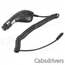 Car Cigarette Powered Retractable Charging Cable for Samsung i9300 - Black