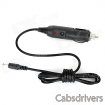 Car Cigarette Powered Charger for GPS Navigator / Tablet + More - Black (12V / 24V / 110cm)