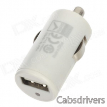 Car Cigarette Lighter Charger for Iphone / Ipod / Ipad / Cellphone + More - White (DC 12~18V)
