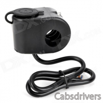 Universal DC 12V Motorcycle / Car Power Charging Socket - Black