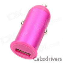 Car Cigarette Powered Charger for Iphone 4 / 4S / 5 - Deep Pink