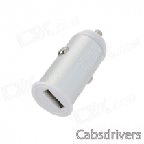 Car Cigarette Lighter Charger for Iphone 4 / 4S / Iphone 5 + More - Silver (DC 12~24V)