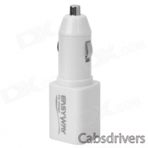 EasyWay Car Cigarette Powered Charging Adapter Charger w/ USB Output - White