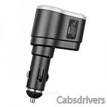 OZIO R31 2-in-1 USB Car Charger + Extension Cigarette Lighter - Gray + Silver