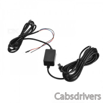 12V/24V to 5V 1A Power Supply Car Charger for Driving Recorder - Black
