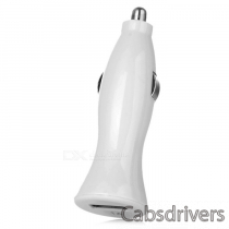 1A Car Cigarette Powered Charging Adapter Charger w/ USB Output for Iphone / Ipad / Samsung - White