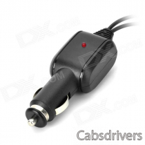 1 to 2 Car Cigarette Plug Adapter Charger w/ USB for Cellphone / DVR / GPS