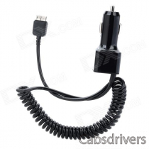 Car Cigarette Powered Charger w/ Coiled Cable for Samsung Galaxy Note 3 N9000 / N9002 - Black