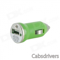 Mini Car Cigarette Lighter Charger for Iphone / Ipad / MP3 / Tablet PC + More - Green (12~24V / 2A)