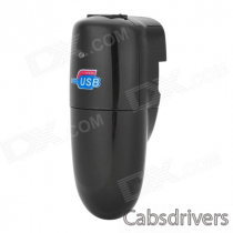 801 Mini Car Charger + EU Plug Power Adapter w/ Power Indicator - Black (110~240V / 12~24V)