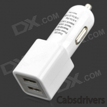 Car Cigarette Powered Charging Adapter Charger w/ USB Data/Charging Cable for Samsung S3/S4 - White