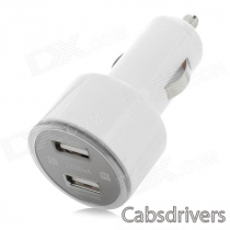 DINKY 12~24V Car Ciagrette Ligher Charger w/ Dual USB for IPHONE / Samsung