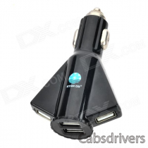 STAR GO ST-06 Aircraft Shaped 5V 4100mA USB 4-Port Car Charger - Black (12~24V)