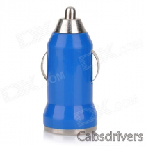 5V 1A USB Car Cigarette Lighter Charger w/ Charging Cable for Samsung Galaxy Note 3 / S5 - Blue