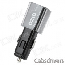 OZIO Car Cigarette Powered Adapter Charger with USB Output - Black