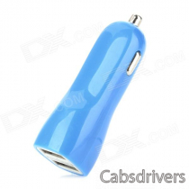 Car Cigarette Lighter Power Adapter Charger w/ Dual USB for Ipad / Iphone - Blue