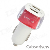 E-Strong Fashiona Dual USB Car Charger w/ Indicator for Cellphone / Tablet PC / MP3 / Camera