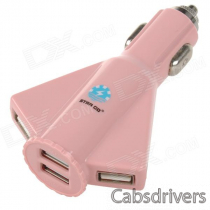STAR GO ST-06 Aircraft Style 4-Port USB 5V 4100mA Car Charger - Pink (12~24V)