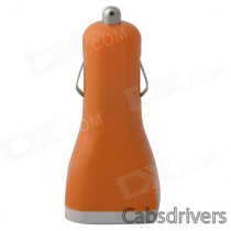 Portable Car Cigarette Powered Dual USB Charger for IPHONE / IPAD / IPOD - Orange (12~24V)